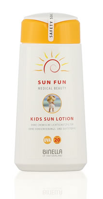 Sun Fun - Kids Sun Lotion 200ml - UVA 20